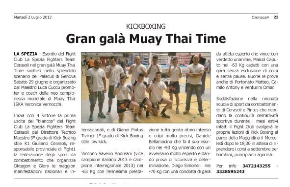 Muay Thai Time Genova 29/06/13