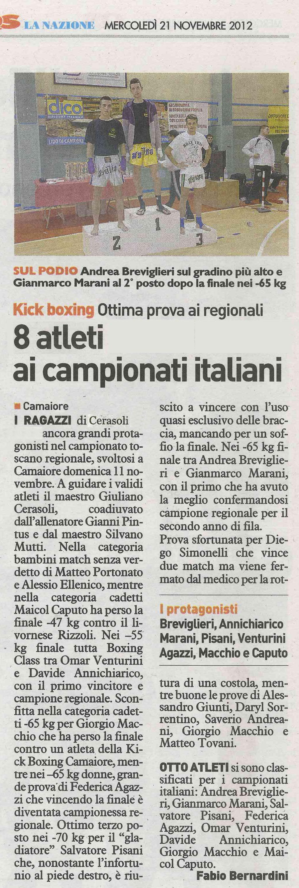 8 atleti ai campionati italiani
