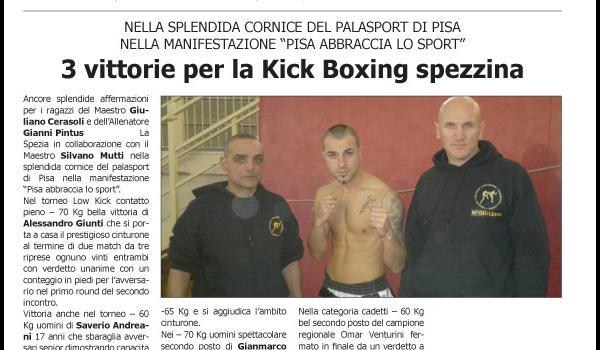 3 vittorie per la kick boxing spezzina