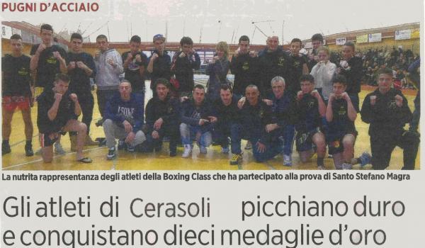 Gli atleti di Cerasoli picchiano duro e conquistano dieci medaglie d'oro