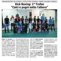 """Kick Boxing - 1° trofeo """"Calci e pugni sotto l'albero"""""""