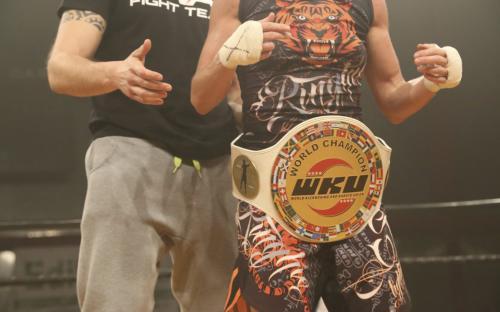 Veronica Vernocchi con la cintura WKU
